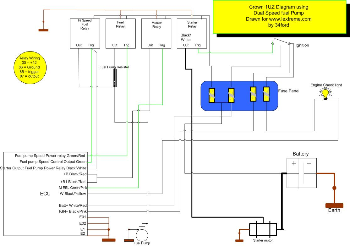 Dual Speed Fuel Pump Diagram  http://lextreme.com/article/1UZDualSpeedFuelpump.jpg.