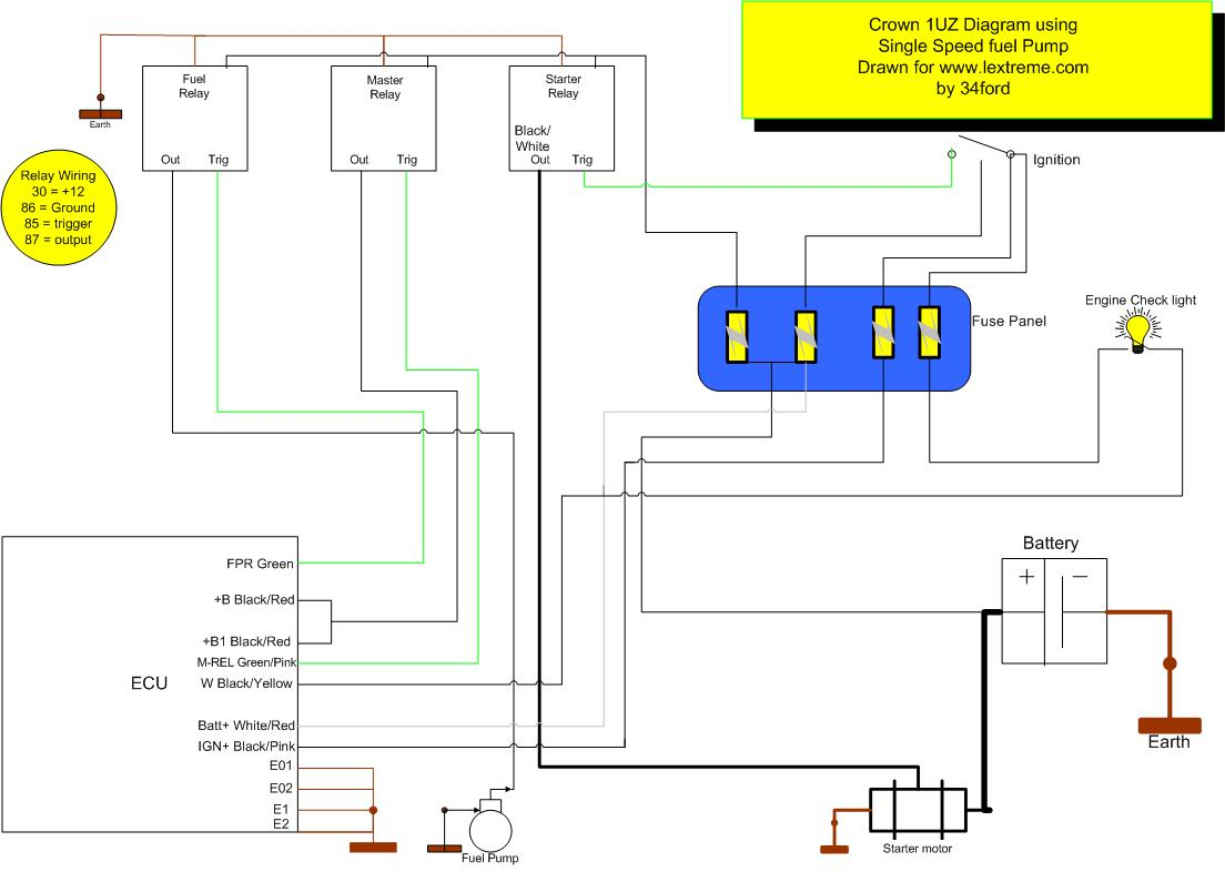 1UZSingleSpeedFuelpump 1uzfe crown fuel pump dual fuel heat pump wiring diagram at nearapp.co