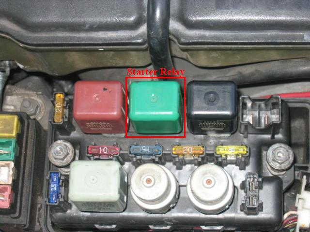 lexus faulty starter diagnoses the green relay is the starter relay
