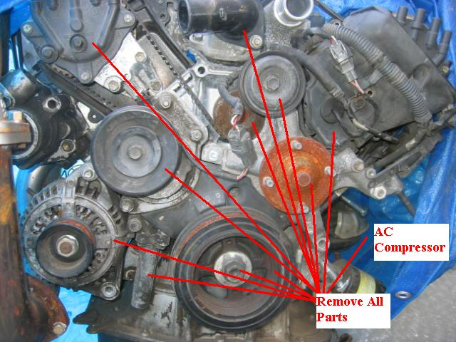 [DIAGRAM_4FR]  How to Replace a Lexus & Toyota Water Pump/Timing Belt - Lexus-Toyota UZFE  V8 Performance Engine Forum | Lexus Timing Belt |  | Lextreme